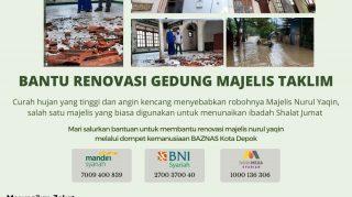 Bantu Renovasi Gedung Majelis Talim